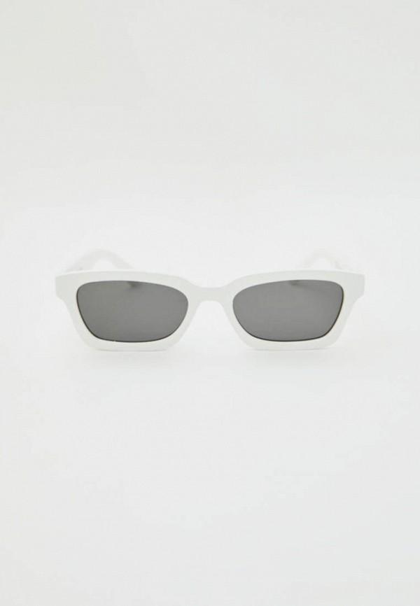 мужские квадратные солнцезащитные очки pull & bear, белые