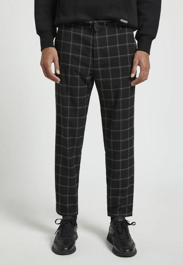 мужские прямые брюки pull & bear, черные