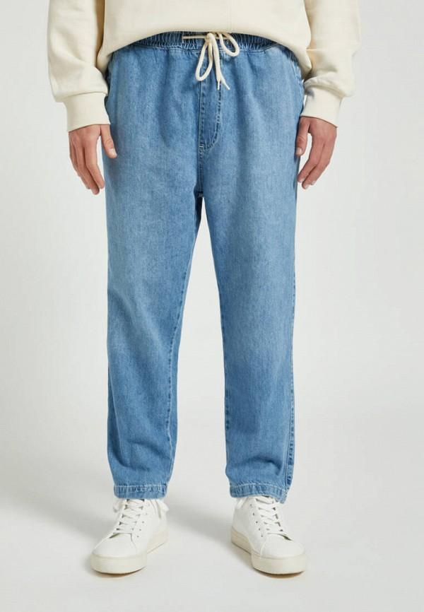 мужские прямые джинсы pull & bear, голубые