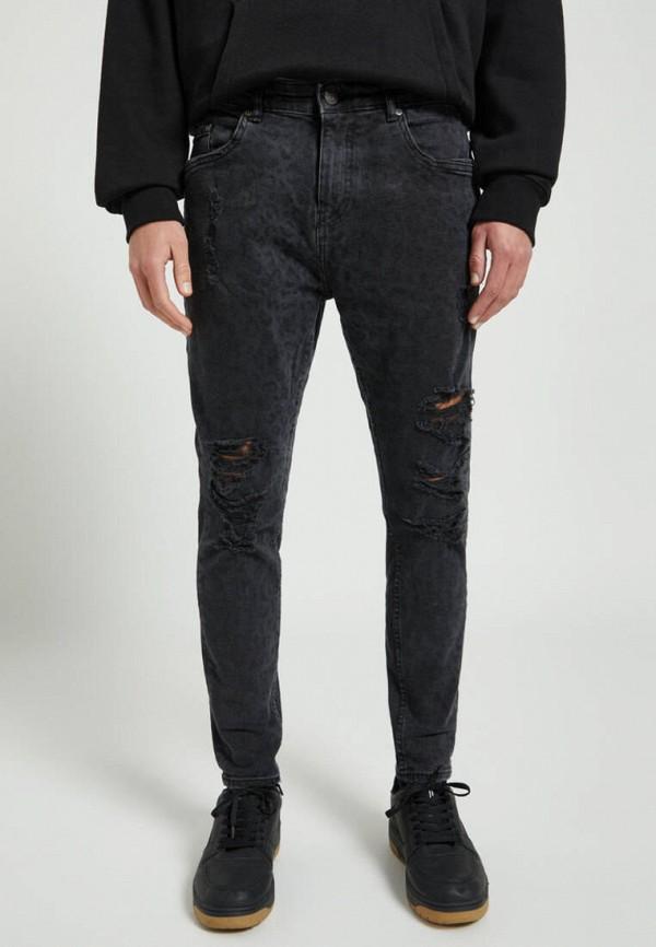 мужские зауженные джинсы pull & bear, серые
