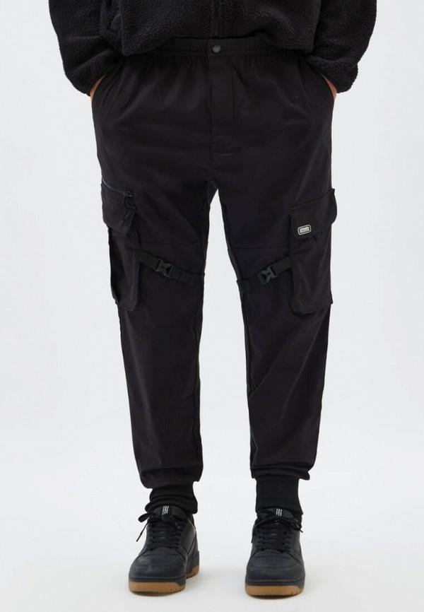 мужские брюки карго pull & bear, черные