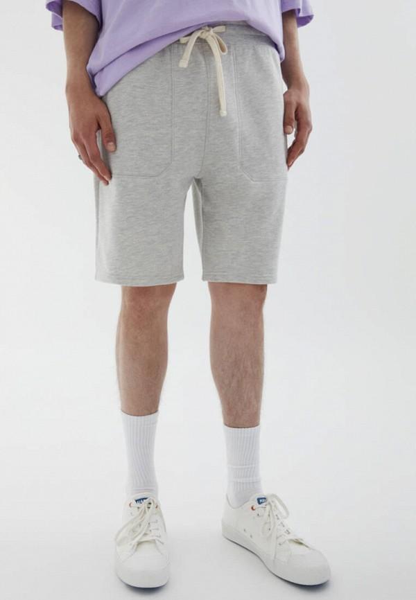 Шорты спортивные Pull&Bear серого цвета