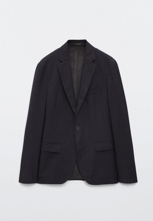 мужской пиджак massimo dutti, синий