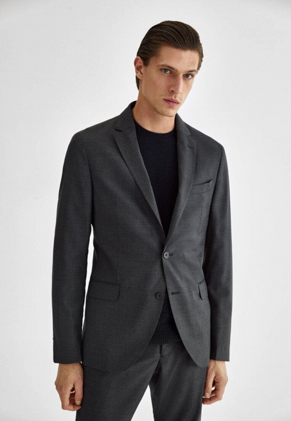 мужской пиджак massimo dutti, серый