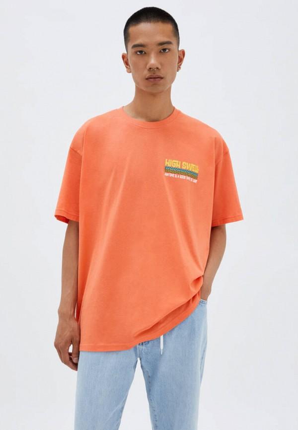 мужская футболка с коротким рукавом pull & bear