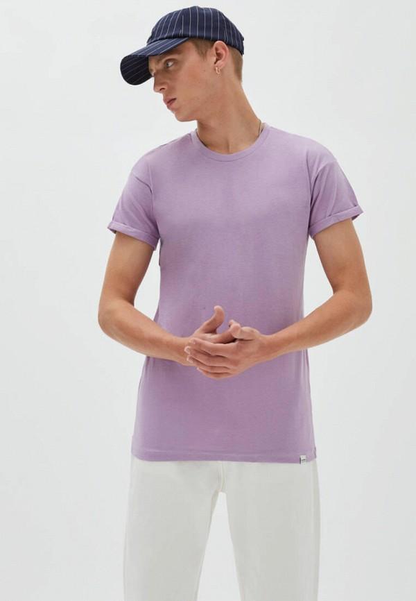 мужская футболка с коротким рукавом pull & bear, фиолетовая