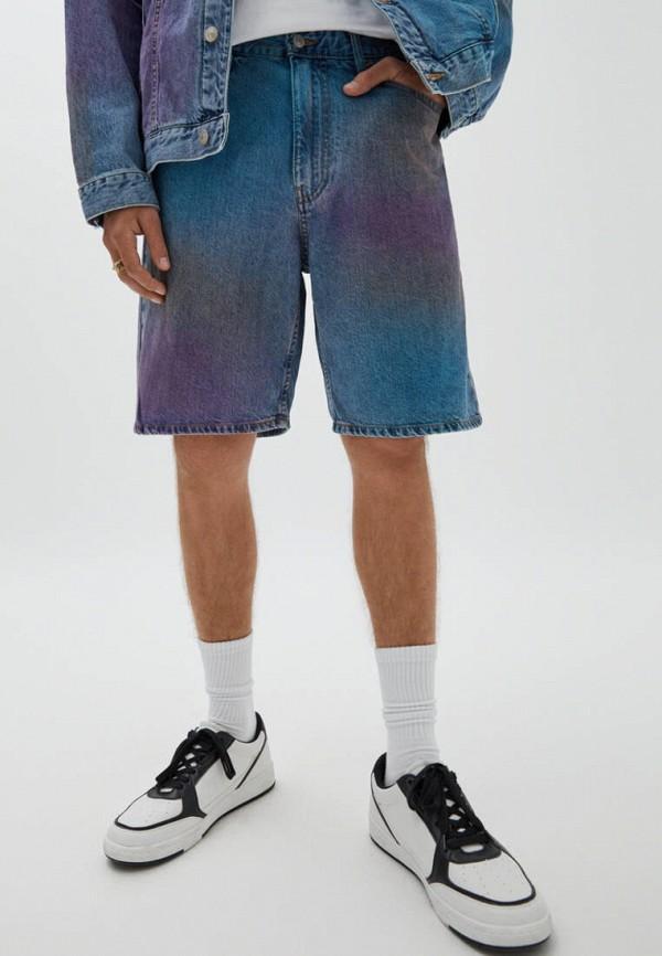 Шорты джинсовые Pull&Bear синего цвета