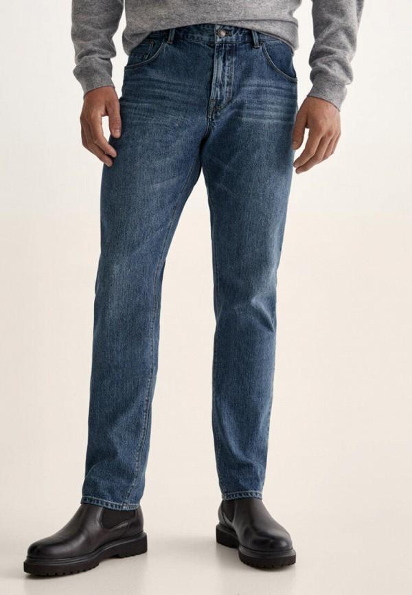 мужские зауженные джинсы massimo dutti, синие