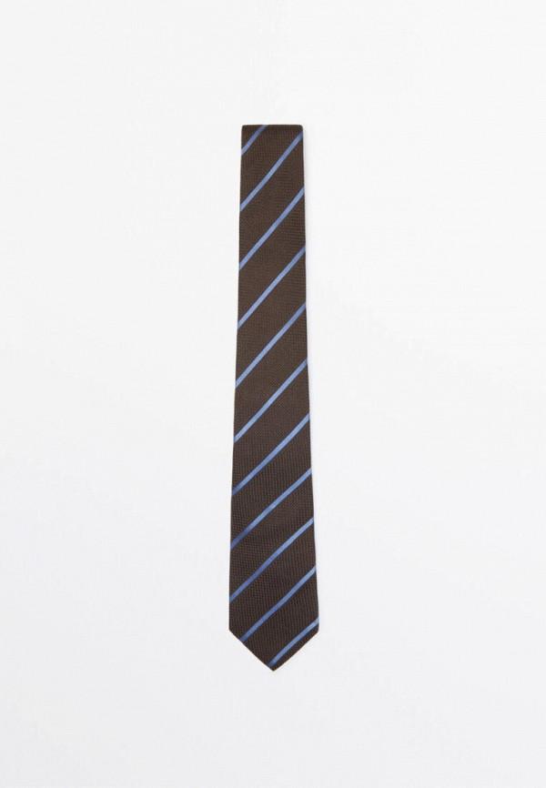 мужские галстуки и бабочки massimo dutti, коричневые