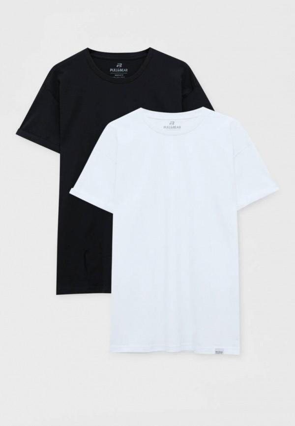 мужская футболка с коротким рукавом pull & bear, разноцветная