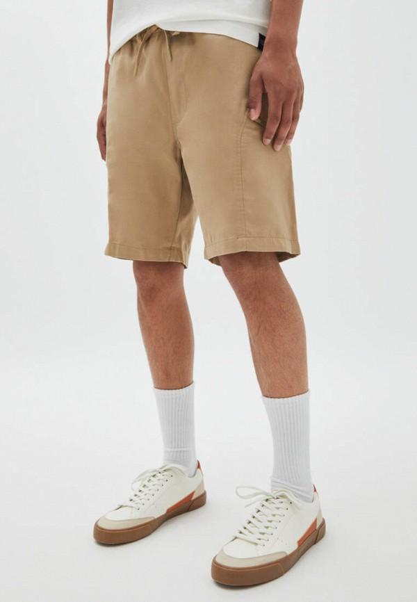 мужские повседневные шорты pull & bear, бежевые