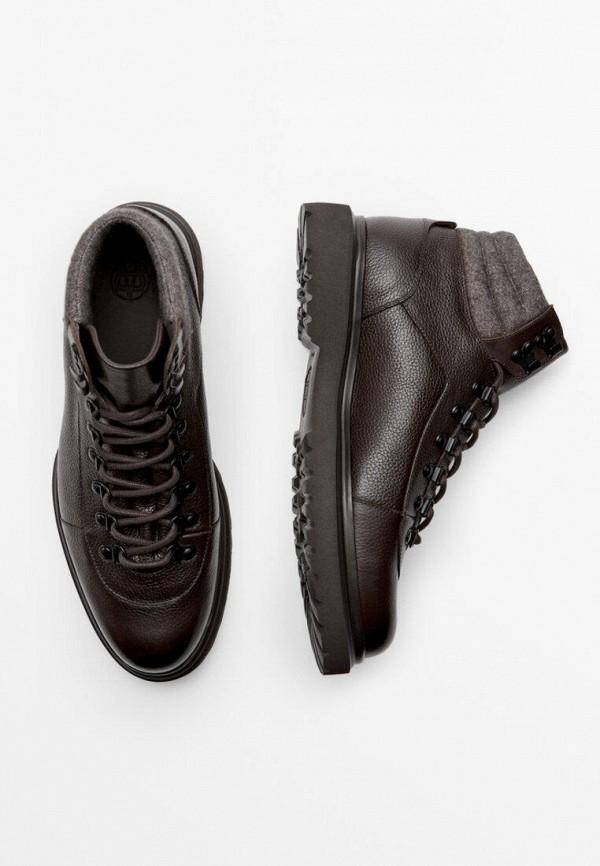 мужские высокие ботинки massimo dutti, коричневые