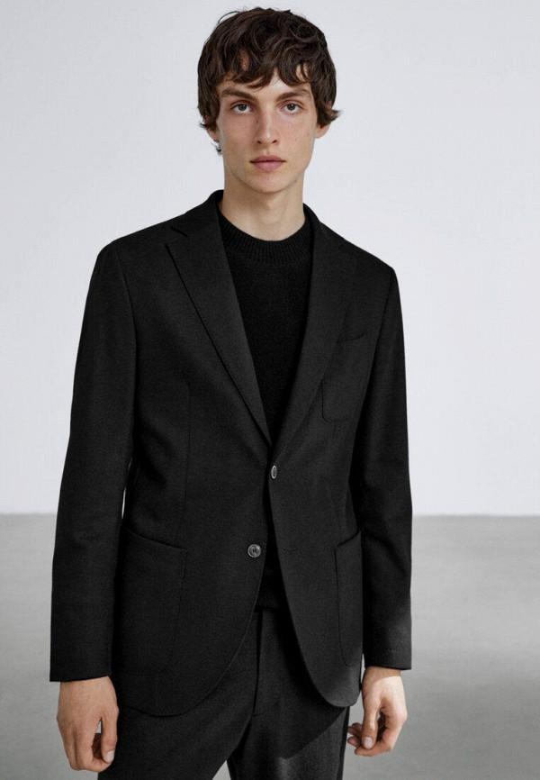 мужской пиджак massimo dutti, черный