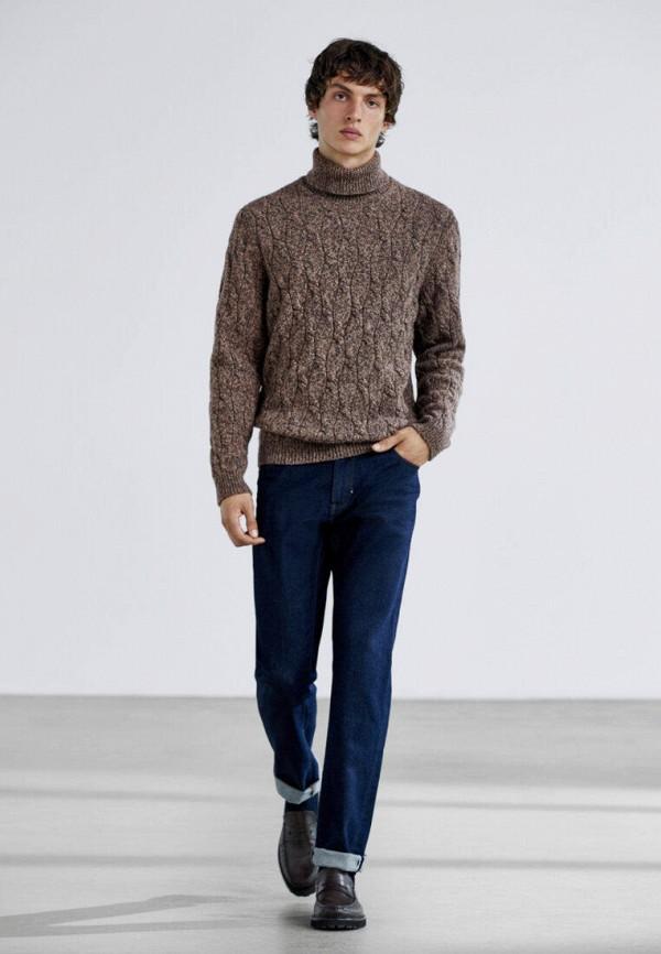 мужские прямые джинсы massimo dutti, синие