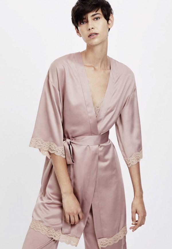 Атласные и кружевные халаты Oysho