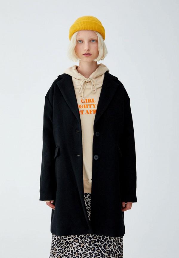 Купить Пальто Pull&Bear, ix001xw000xq, черный, Осень-зима 2018/2019