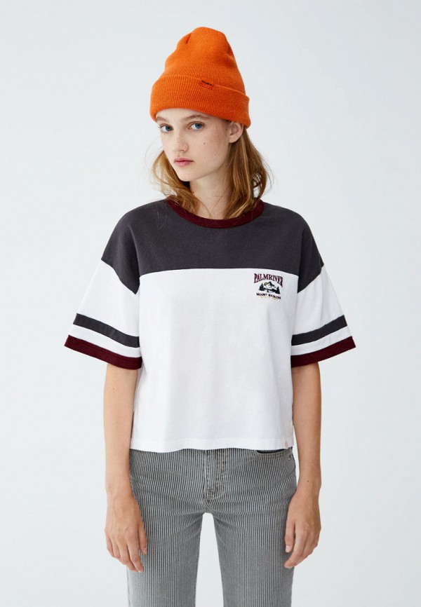 Футболка Pull&Bear Pull&Bear IX001XW00112 футболка pull
