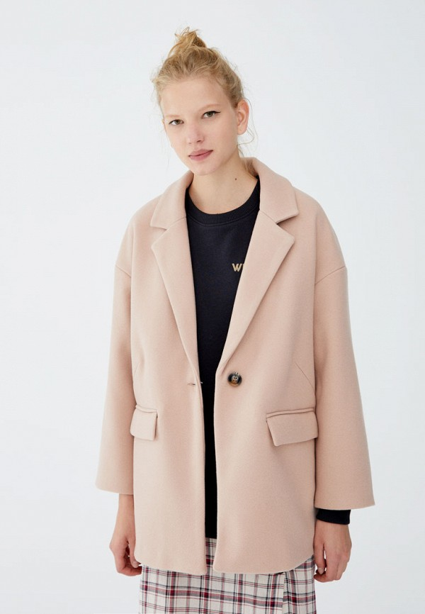 Купить Пальто Pull&Bear, ix001xw001xo, розовый, Осень-зима 2018/2019