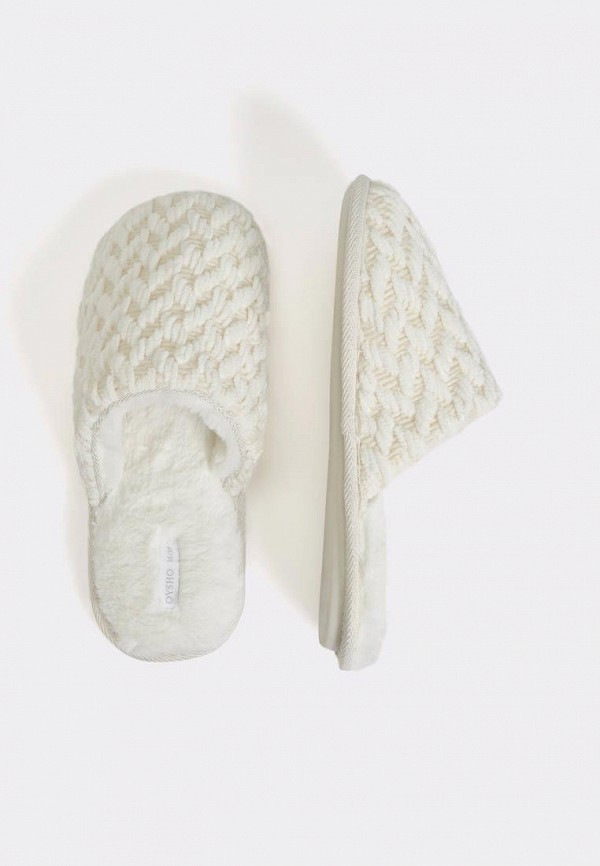 женские тапочки oysho, белые