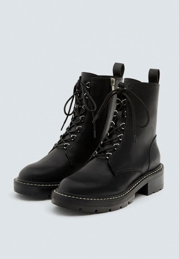 Купить Ботинки Pull&Bear, ix001xw002b0, черный, Осень-зима 2018/2019