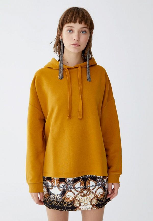 Купить Худи Pull&Bear, ix001xw002e9, желтый, Осень-зима 2018/2019