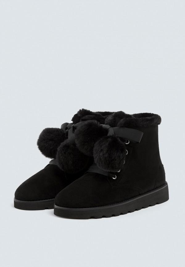 Купить Ботинки Pull&Bear, ix001xw002im, черный, Осень-зима 2018/2019