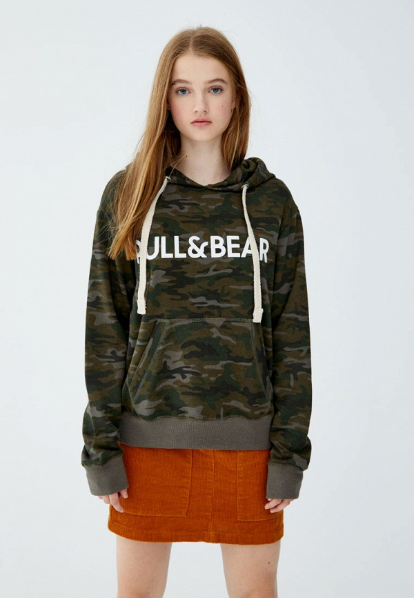 Худи Pull&Bear Pull&Bear IX001XW002LT худи print bar bear totoro