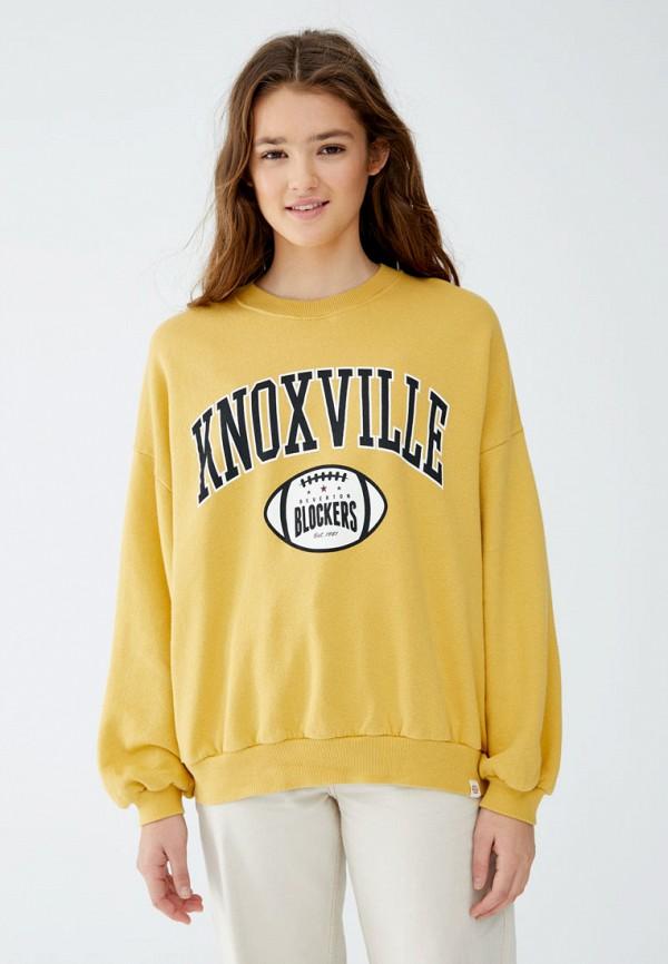 Купить Свитшот Pull&Bear, ix001xw0032s, желтый, Осень-зима 2018/2019