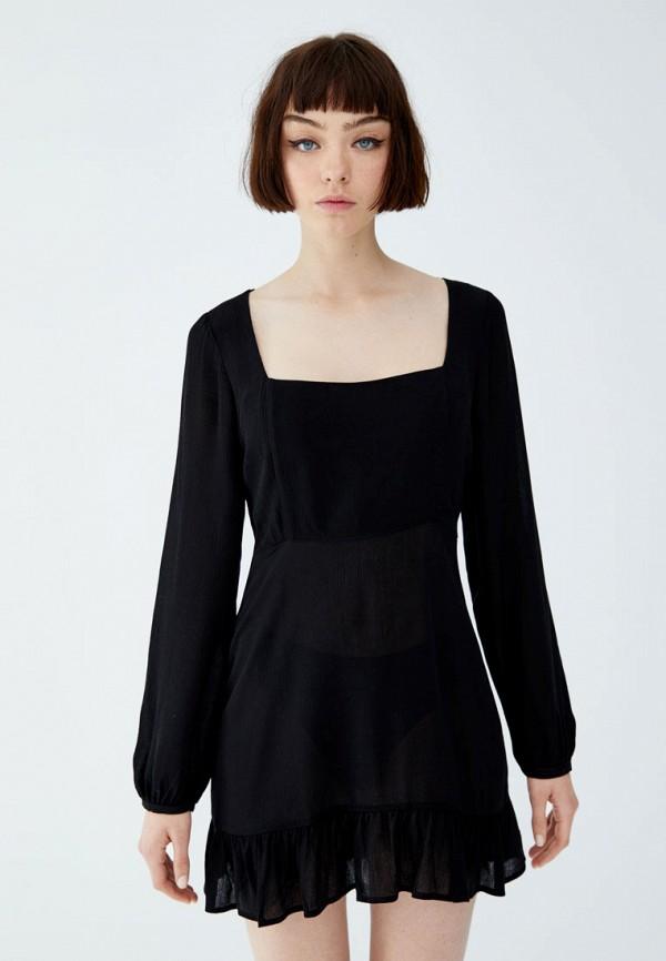 Купить Платье Pull&Bear черного цвета