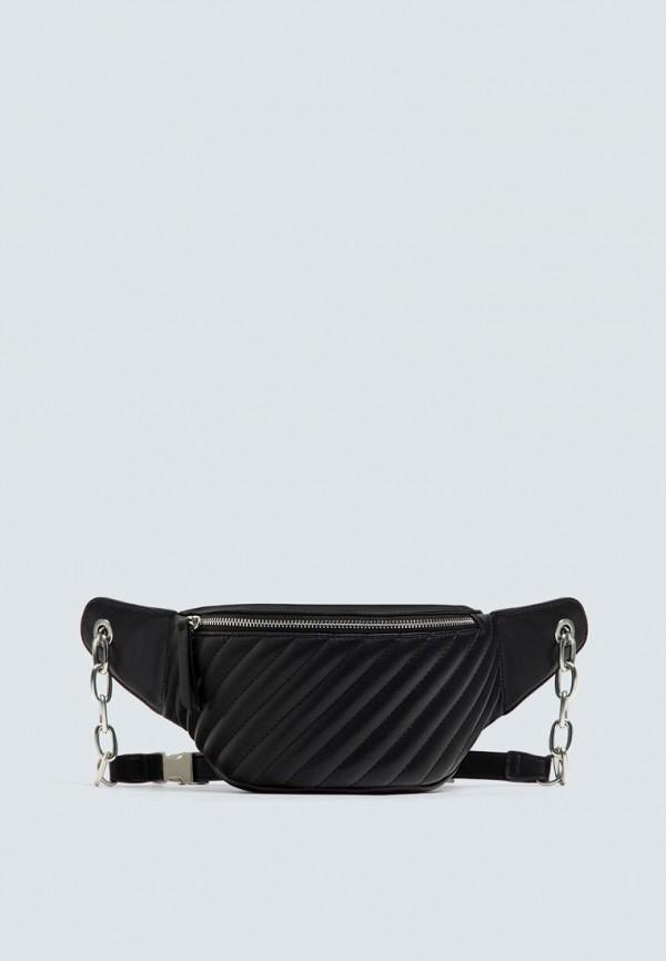Поясная сумка  черный цвета