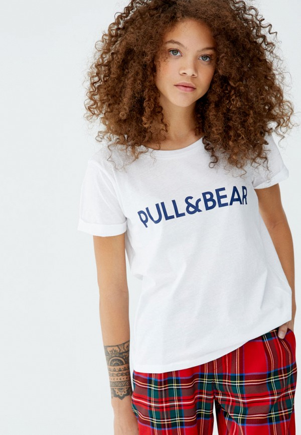 Футболка Pull&Bear Pull&Bear IX001XW003A2 new creative plush bear toy cute lying bow teddy bear doll gift about 50cm