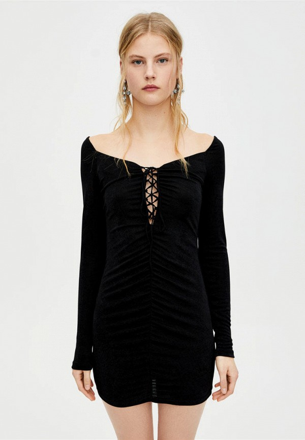 Купить Платье Pull&Bear, ix001xw003cc, черный, Осень-зима 2018/2019