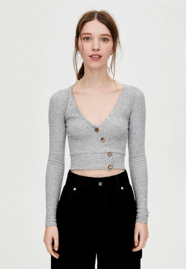 Купить Пуловер Pull&Bear, ix001xw003co, серый, Осень-зима 2018/2019