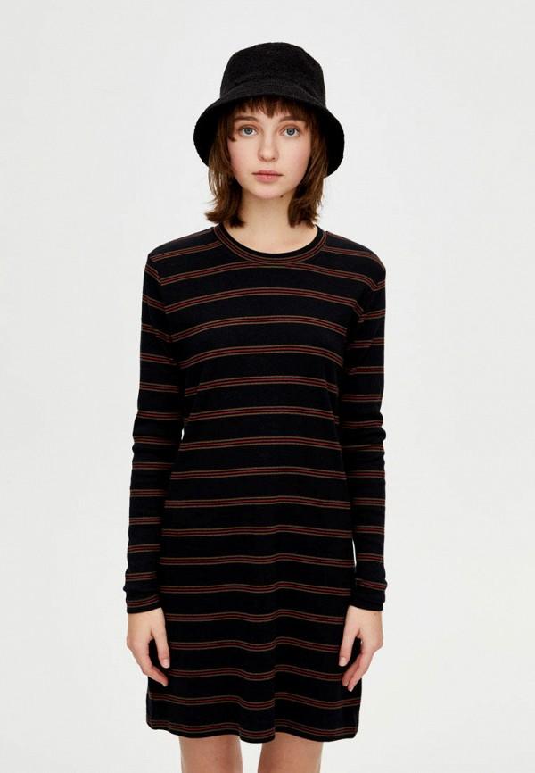 Купить Платье Pull&Bear, ix001xw003h4, черный, Осень-зима 2018/2019