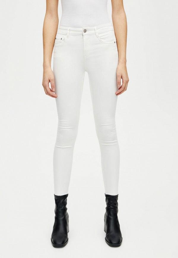 женские повседневные брюки pull&bear, белые