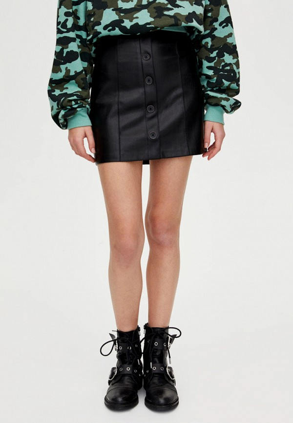 Кожаные юбки Pull&Bear