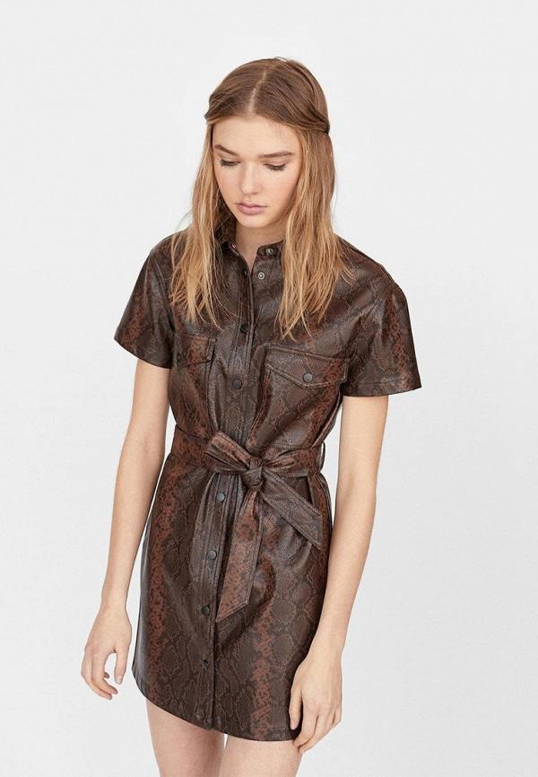 Кожаные платья Stradivarius