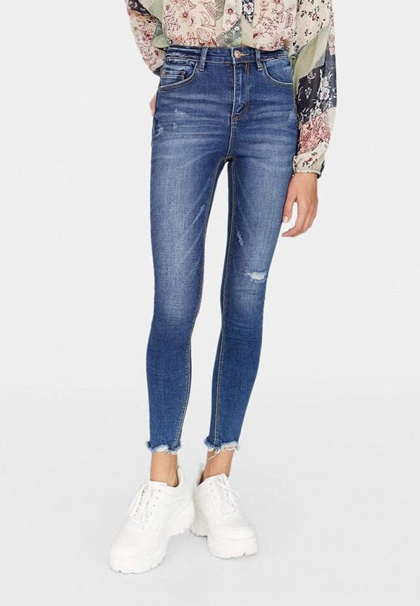 женские джинсы stradivarius, голубые