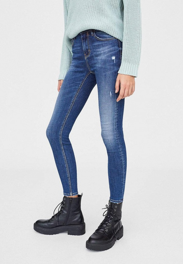 женские джинсы stradivarius, синие