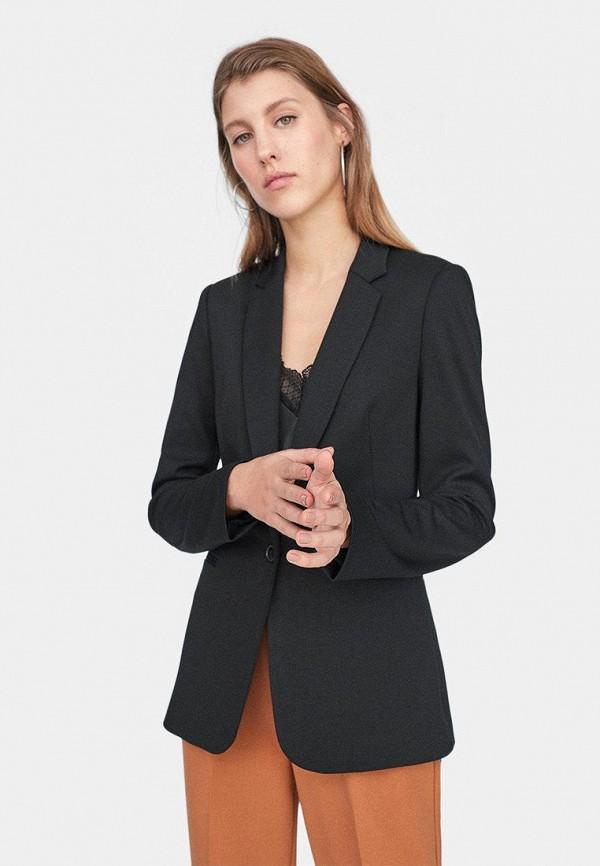 женский пиджак stradivarius, черный