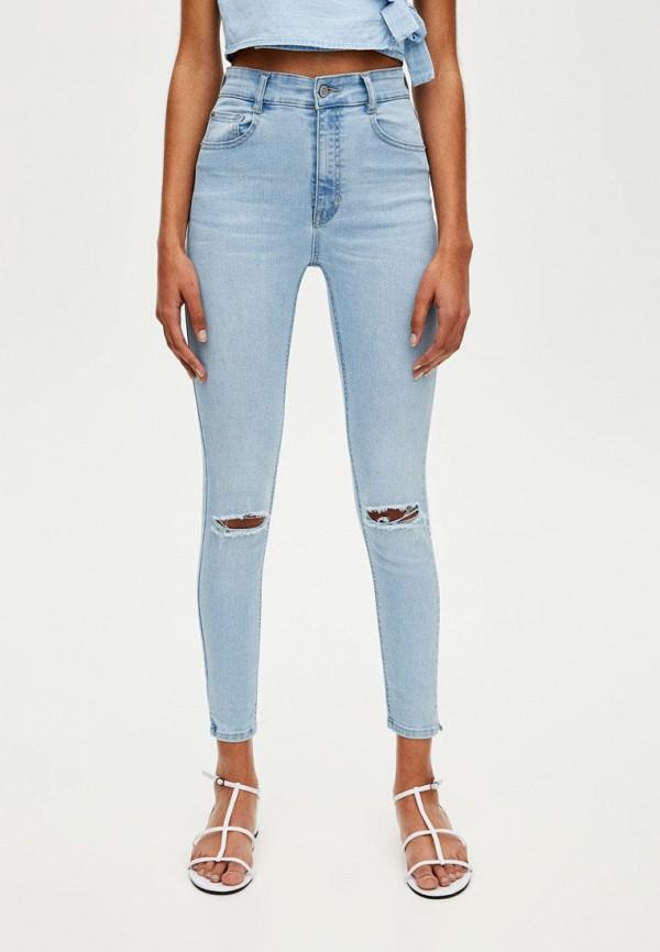 женские джинсы pull&bear, голубые