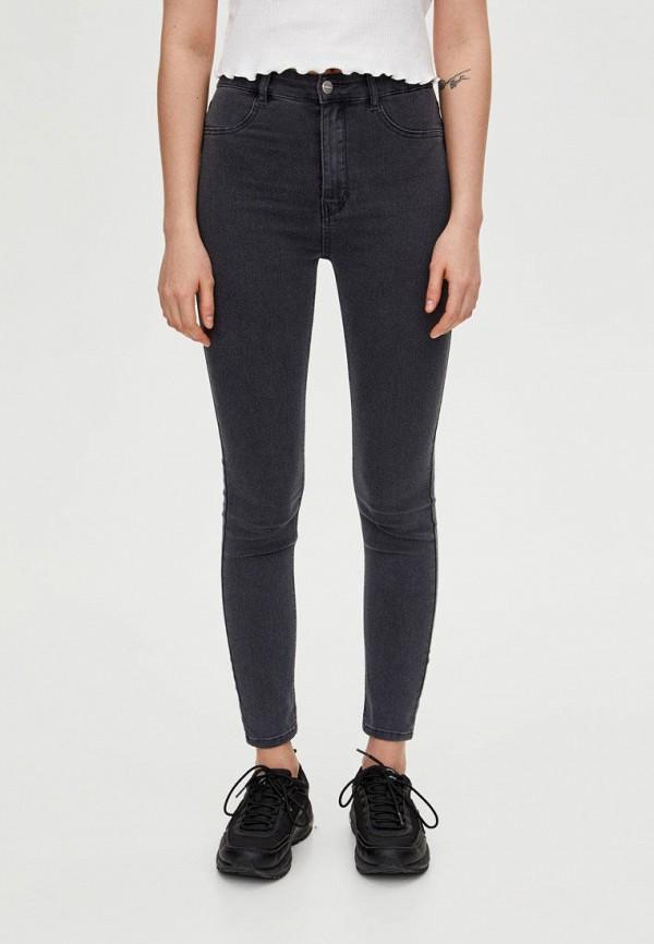 женские джинсы pull&bear, серые