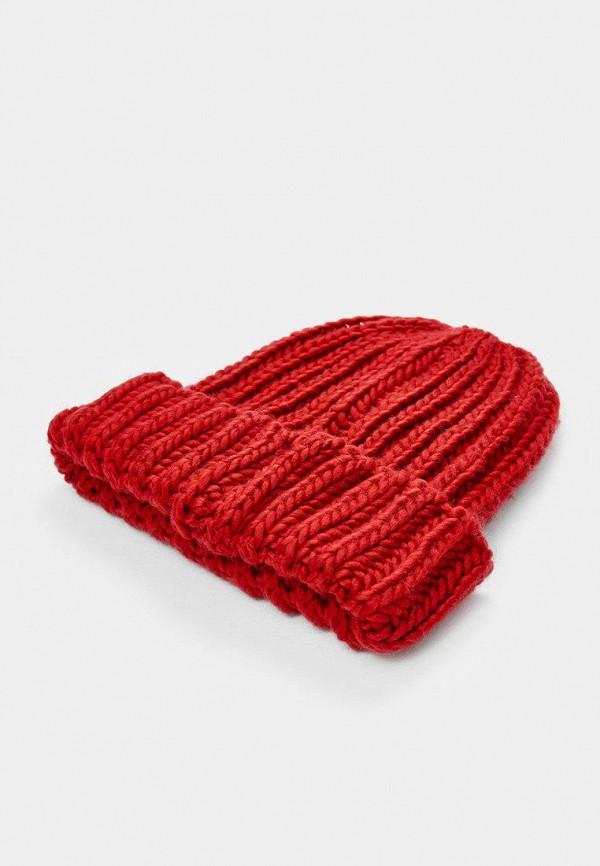 женская шапка stradivarius, красная