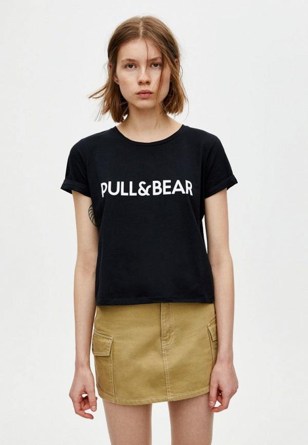 Футболка Pull&Bear Pull&Bear IX001XW007E0 футболка pull