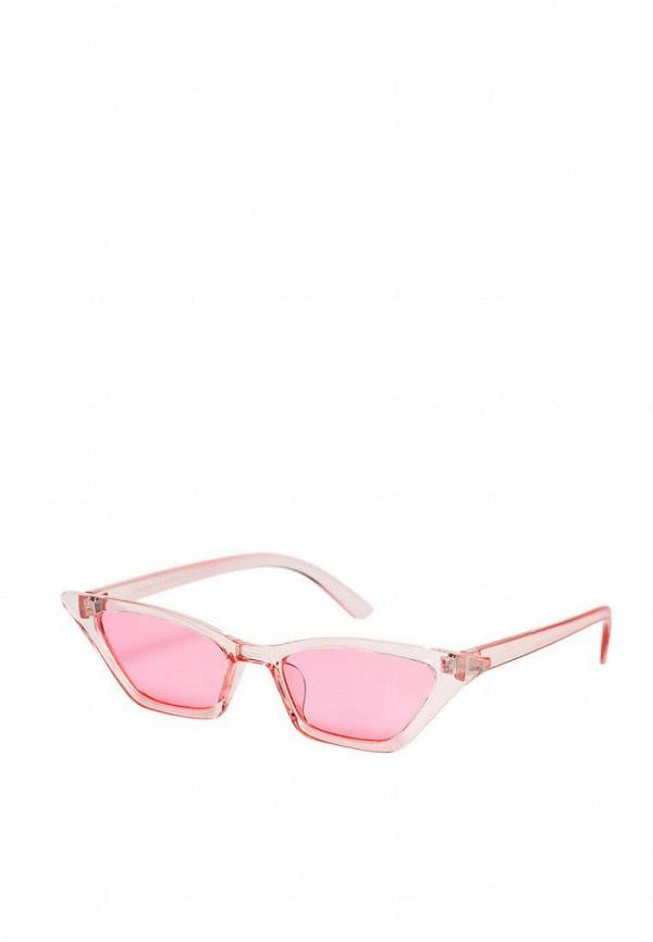 женские солнцезащитные очки кошачьи глаза stradivarius, розовые