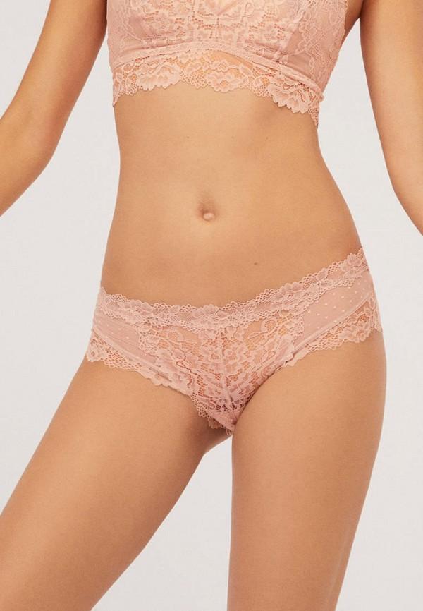 женские трусы-шорты oysho, розовые