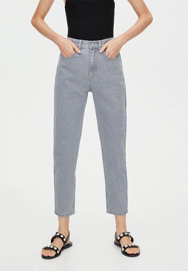 женские джинсы pull & bear, серые