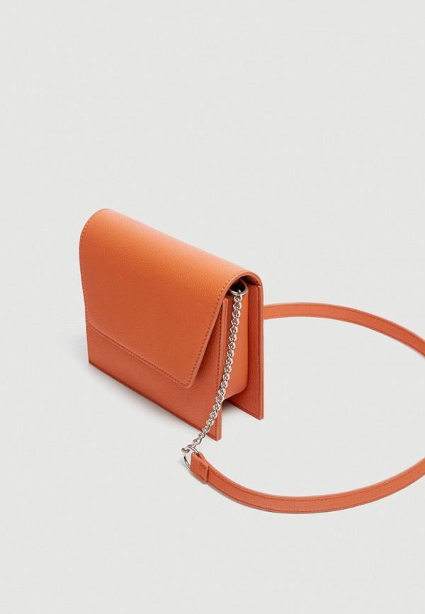 Фото 2 - Сумку Pull&Bear оранжевого цвета