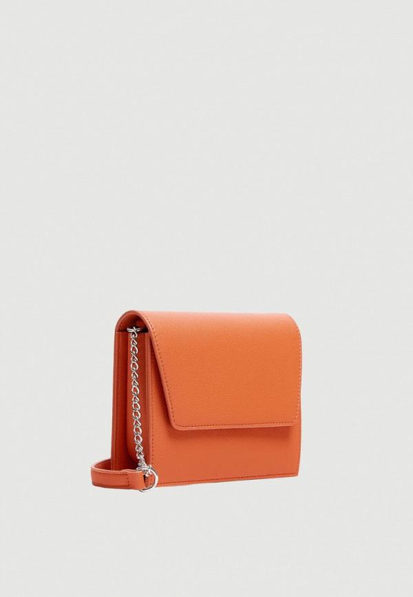 Фото 4 - Сумку Pull&Bear оранжевого цвета
