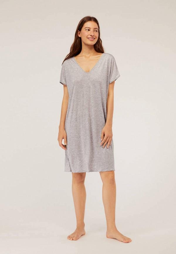 Фото 2 - Платье домашнее Oysho серого цвета